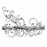 Desenho de Diversas notas musicais