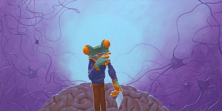 Neuronen / Neurons -  70 x 140 cm - acrylverf op doek / acrylic on canvas - 2015 -   in opdracht / in commission