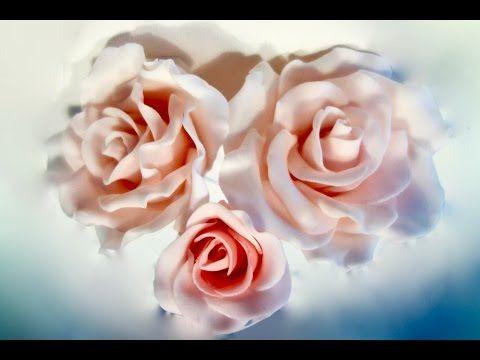 How to make Big  Gigantic Fondant /Gum Paste -Wire Rose/Cake Decoration - YouTube