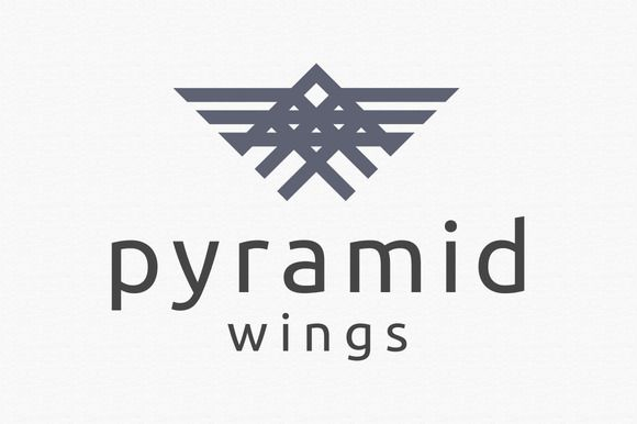 Pyramid Wings Logo Template by dkcreative on Creative Market