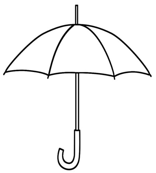 Printable umbrella coloring page kids coloring pages for Printable umbrella template for preschool