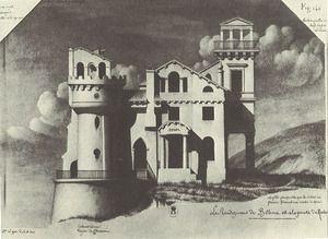 J.Jルクー Jean-Jacques Lequeu 「木こりのためのトルコ風の家」