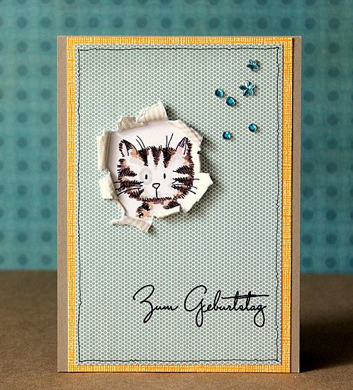 cat card by | Cat Portraits #LL078 by HERO ARTS