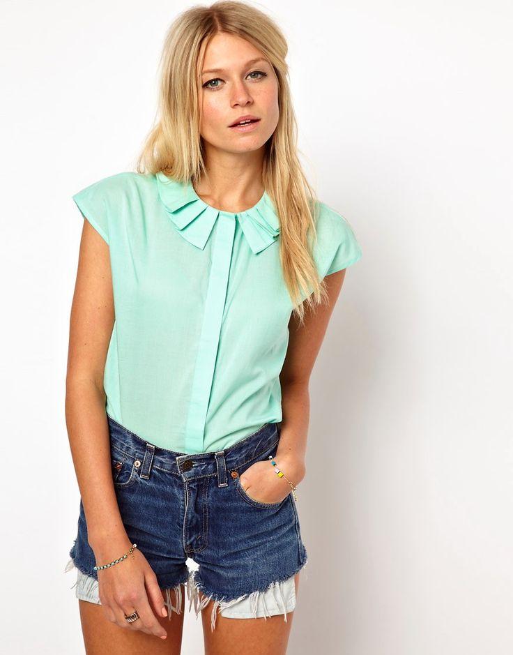Мятные блузки (48 фото): с чем носить блузу мятного цвета