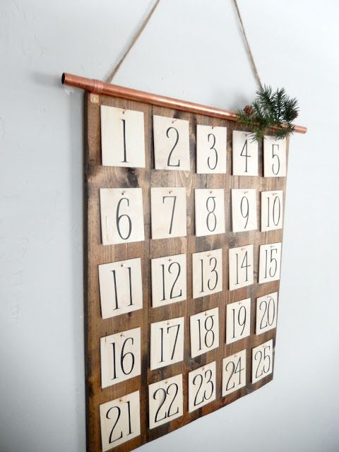 Diy christmas advent calendar copperpipe for Pinterest advent