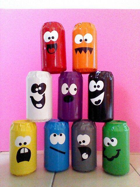 Latas de soda recicladas: Juego de Tiro al blanco by Moni Lee