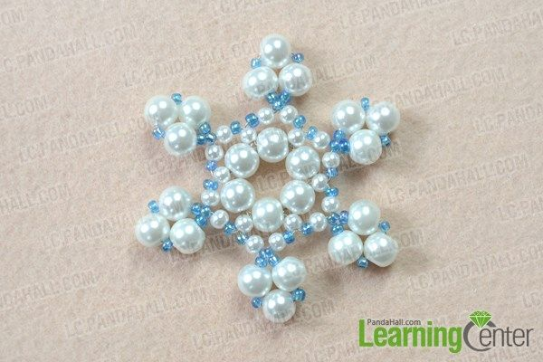 Christmas Jewelry Tutorial on How to Make a Beaded posted on Pandahall.com.....Snowflake Ornament Summary: With Christmas coming, want to make some Christmas ornaments for your house? Well, this tutorial is going to show you how to make a beaded snowflake ornament with pearls and seed beads.