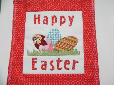 Happy Easter Wall Hanging Tutorial   Pattern