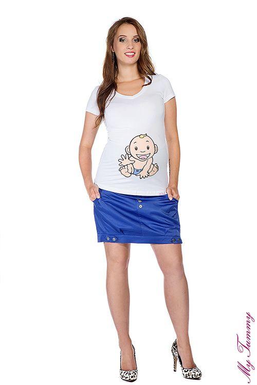 Spódnica ciążowa mini chaber