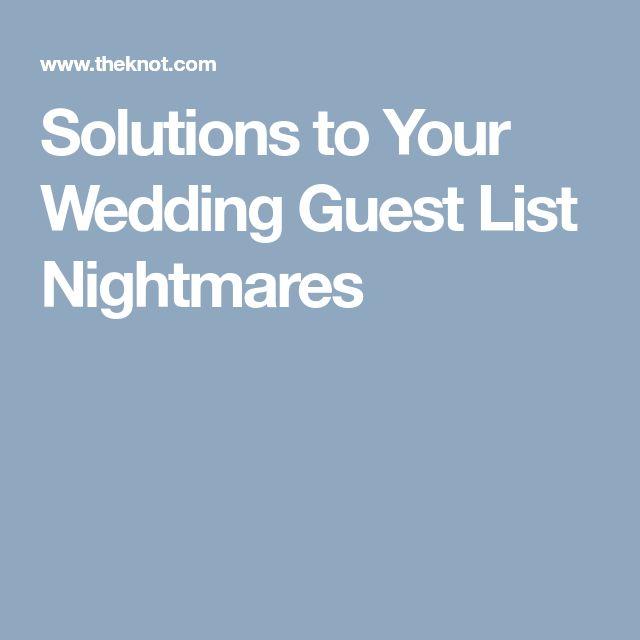 Best  Wedding Guest List Ideas On   Guest List