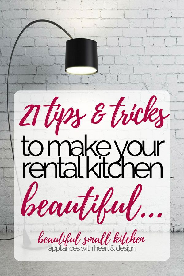 21 ideas to make your rental kitchen HOME. Rental kitchens just need some style and tlc, but you can make any kitchen beautiful! Take a look at these 21 style hacks. #kitchendecor #rentalkitchen #kitchenmakeover