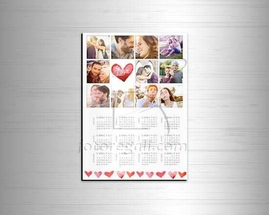 calendario magnetico con le tue foto