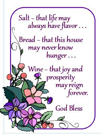 New home gift basket with blessing just add the wine salt and bread for the home - House warming blessing ...