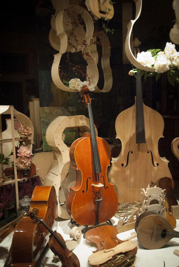 Violins' Shop in Cremona by Freeman Photo