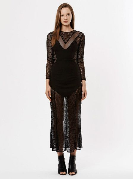 RUBY SEES ALL - Desolate Shores Maxi Dress - Black - Lace  $259.90