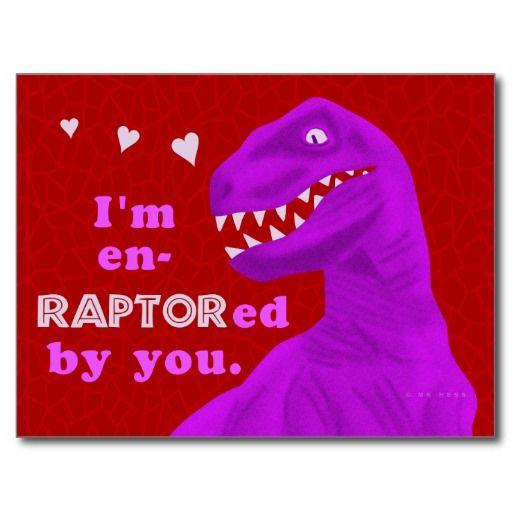 Funny Valentine's Day Raptor Dinosaur Pun Kids