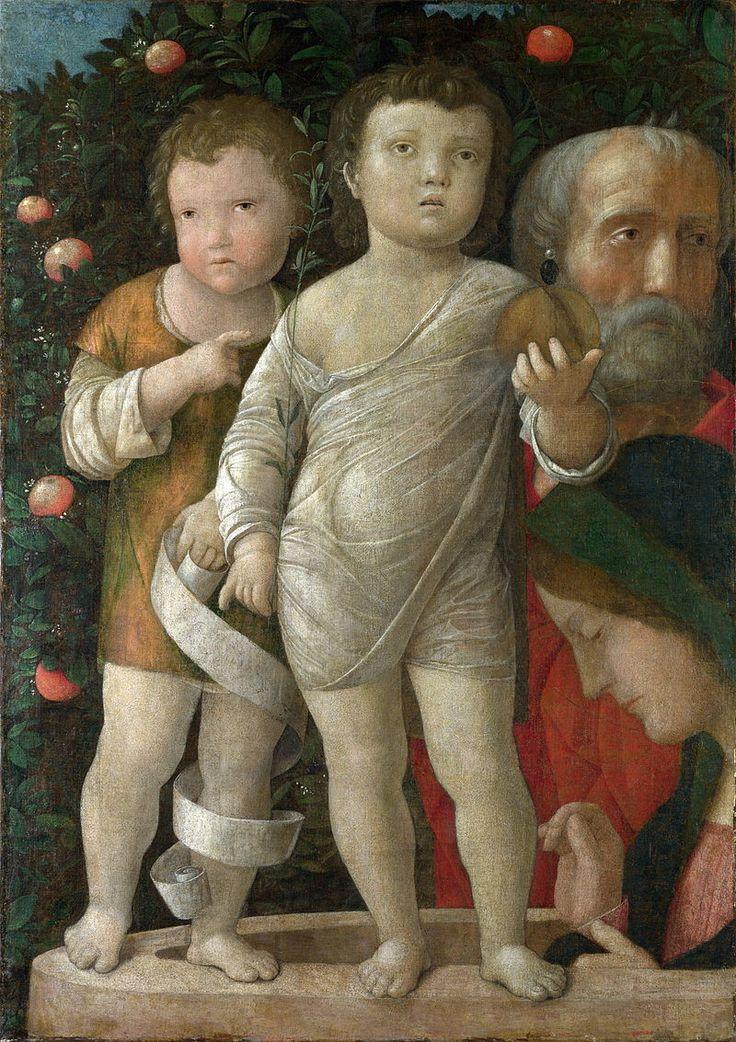 87. 1500 circa - Sacra Famiglia con san Giovannino - Londra, National Gallery