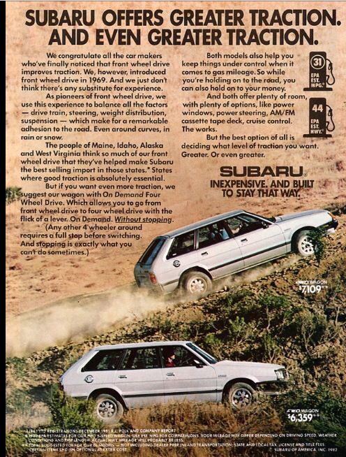 82 Subaru GL 4wd - one of the best cars I had as a kid, someone else thought so too and stole her.