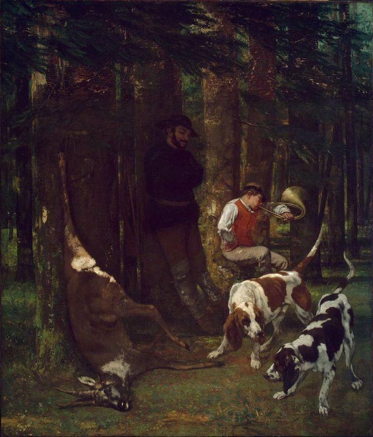 "Gustave Courbet: ""The Quarry"" (La Curée),  1856 oil on canvas, Museum of Fine Arts, Boston..jpg"