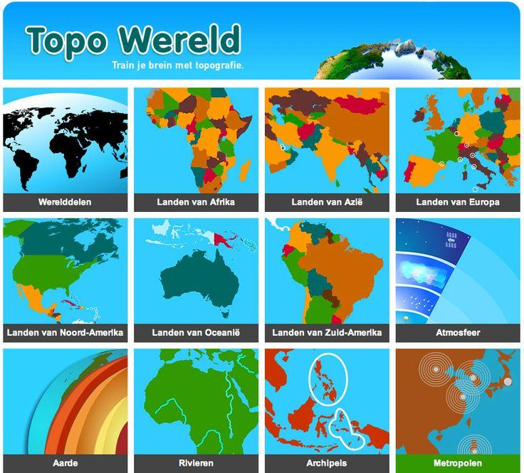 Fijne en duidelijke site om te oefenen met werelddelen en de topografie van…