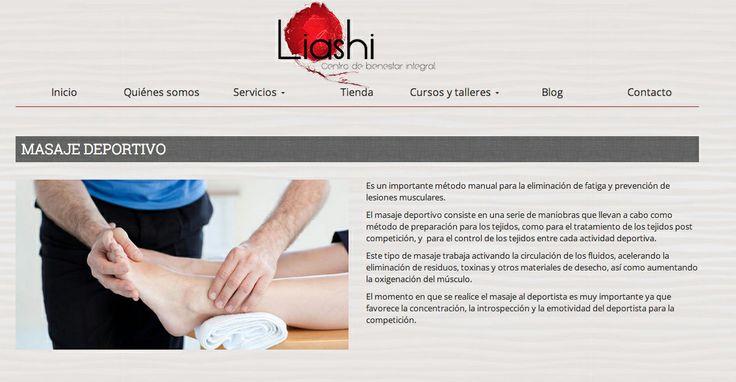 Masaje deportivo en Liashi Valladolid
