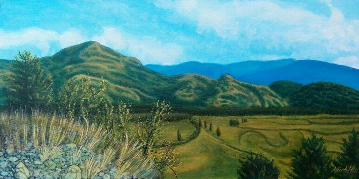 "Grand Forks. Acrylic. 12 x 24"". Nicole Horel."