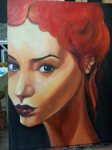 Kadın  akrilik woman oilpaintings