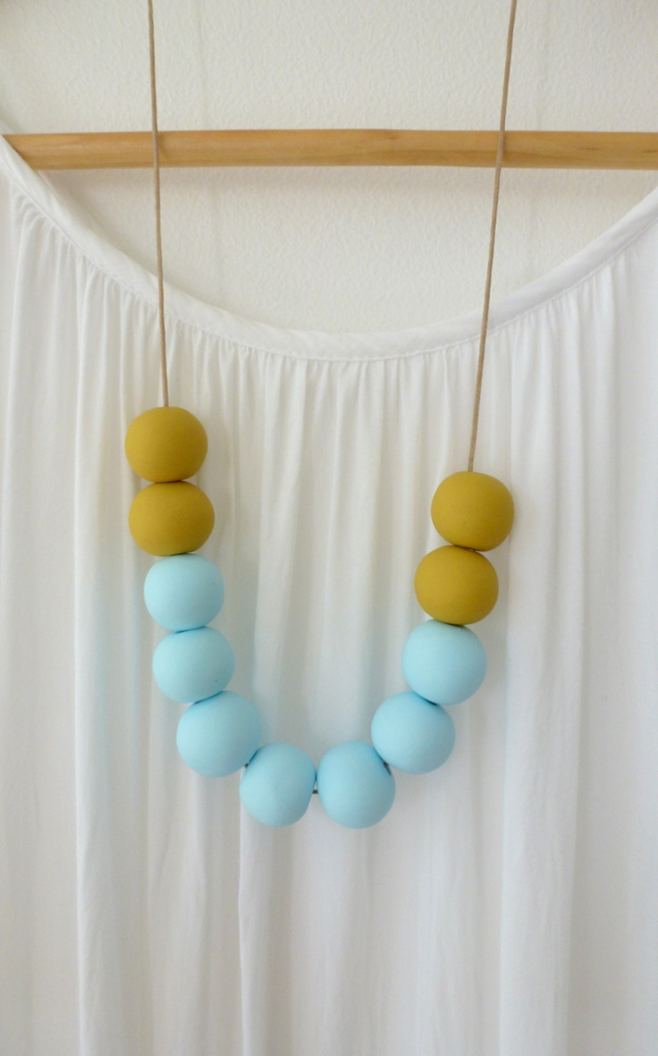 Handmade clay beads thread through a waxed cotton cord. Inspiration comes from the beautiful beaches and coves of Cornwall, England. Please note as each bead is hand crafted some shapes and sizes vary slightly... Length of cord half a yard or 90 cms, can be shortened as desired. Thanks for stopping by and taking an interest in our little store