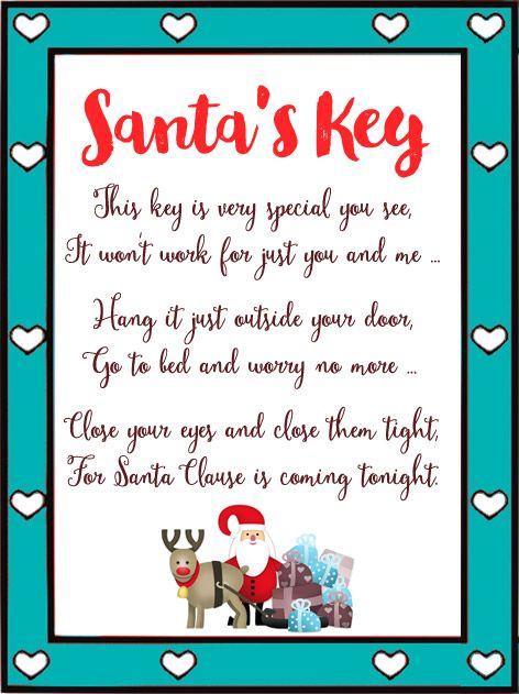 The 25 best santa key ideas on pinterest magic santa for Christmas eve food ideas uk