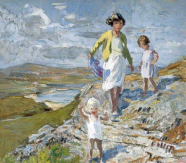 Dorothea Sharp -- Children on a Hillside