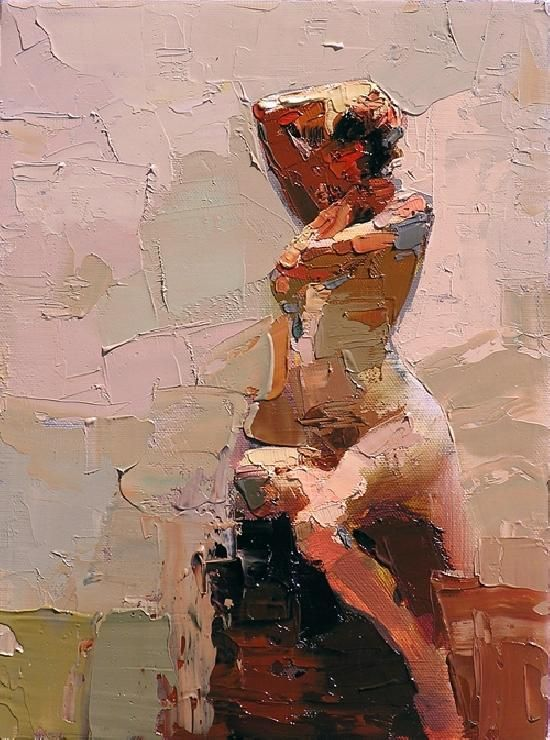 Figure Study # 64 By Zim Lin: I love the mark making utilized in this painting. It has a brisk, quick sensation, and was likely an alla prima. I want to use this technique for class and projects