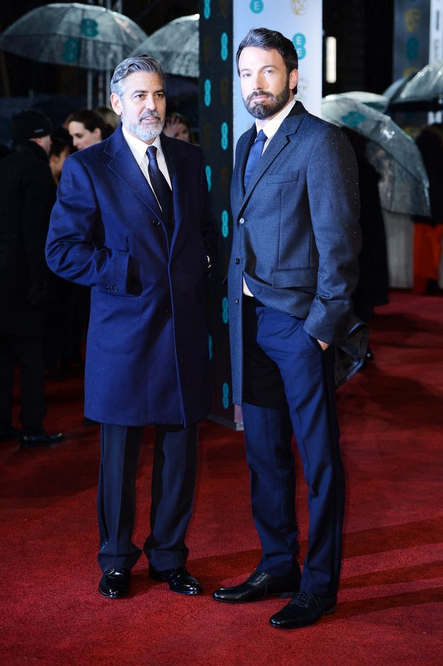 Fashion At The 2013 BAFTA Awards George Clooney and Ben Affleck