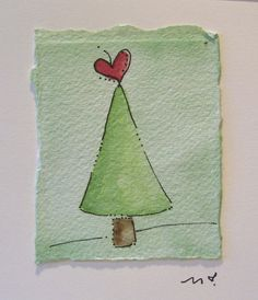 Watercolor Card Christmas Christmas Wreath by betrueoriginalart