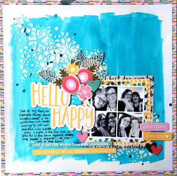 All About Scrapbooks Australia: Happy Today by Tammy Klingner