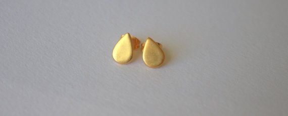 Drops earrings / gold plated by Mesdames on Etsy