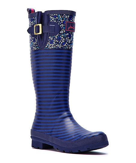 Purple Floral Welly Rain Boot - Women  Fun! $46.99