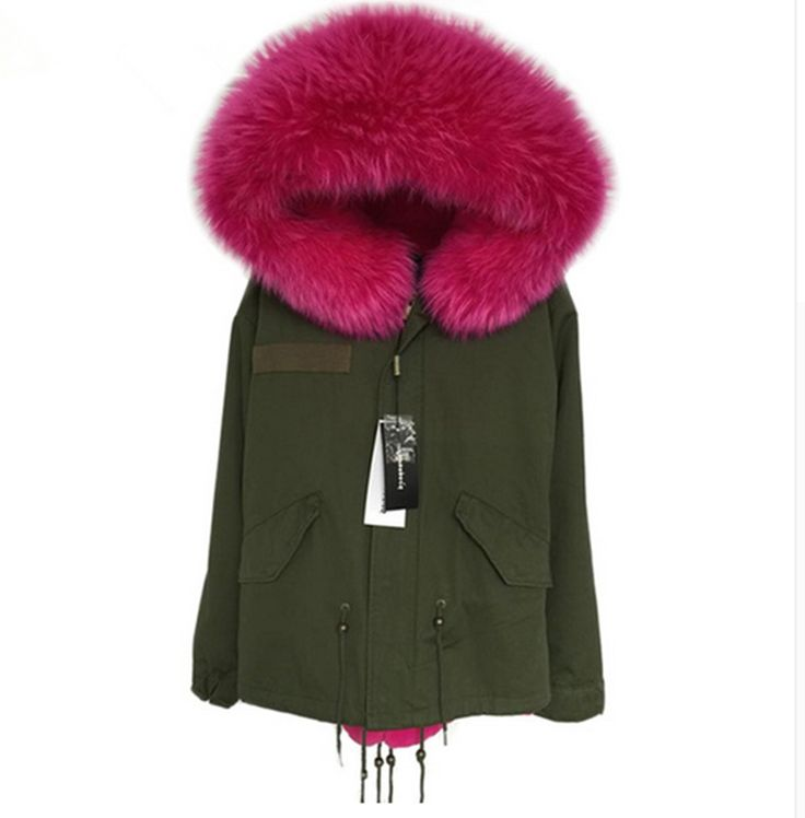 143.12$  Buy now - http://ali4u1.worldwells.pw/go.php?t=32734061347 - Army Green Parka Real Fur Collar Winter Coats Ladies Long Sleeve Faux Fur Lined Hooded Plus Size Outerwear Parkas S-2XL 143.12$