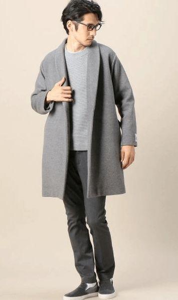 ラップコートは持っておくと便利な優秀アイテム。頼れるかっこいいお兄系タイプのコーデ。 参考にしたいスタイル・ファッションのアイデア。