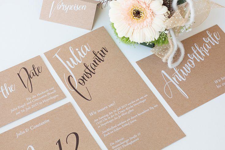 Hochzeitspapeterie von imagine designs | Friedatheres.com