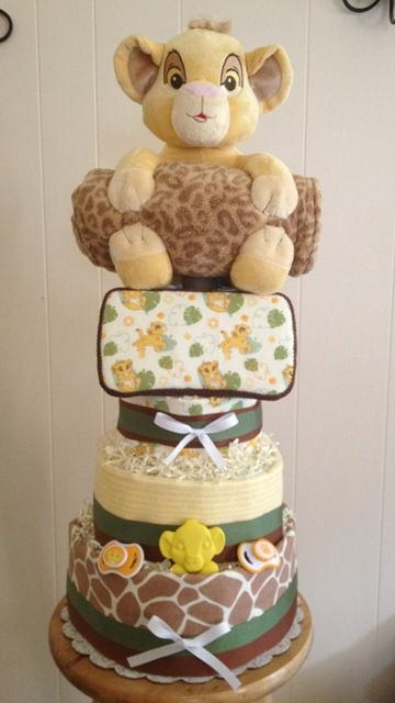 4 Tier Disney Lion King Diaper Cake