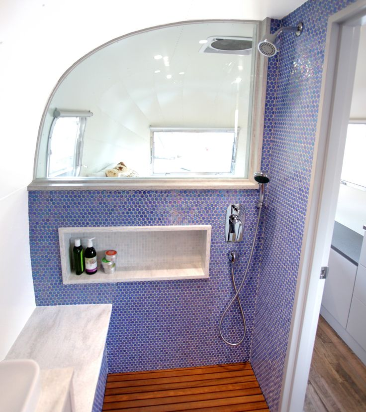 25 best airstream bathroom ideas on pinterest vintage airstream airstream travel trailers for Install bathroom in enclosed trailer