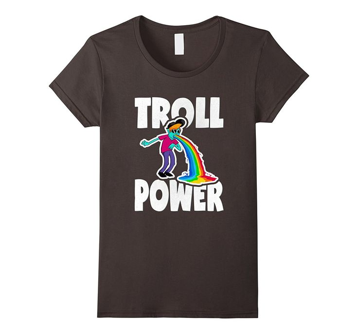 Troll Power Vintage Retro Funny Rainbow Vomit Trolls T-Shirt