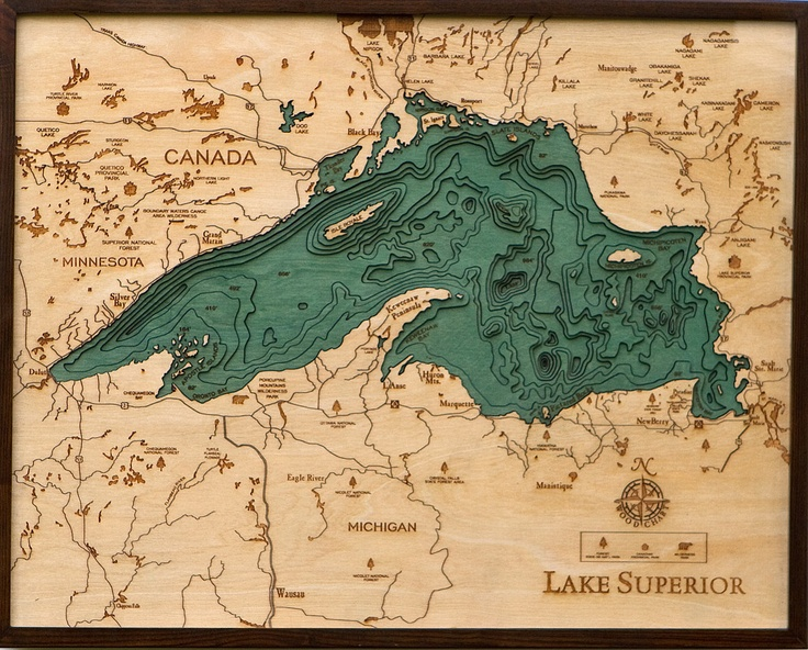 The largest of the Great Lakes, and the largest freshwater lake in the world (by surface area), Lake Superior is enormous. Its deepest point is 733 feet below sea level, which qualifies it as the lowest--and most insulated--point in the continental interior of the United States. The water at the bottom of the lake is so well insulated, in fact, that it stays a constant 39°F and only mixes with the warmer water above it twice each year when entire lake is 39 degrees. 200 yr cycle for lake…