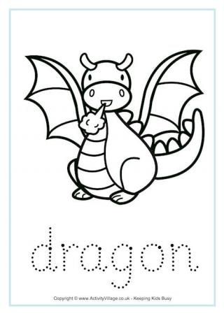 Dragon Tracing Worksheet