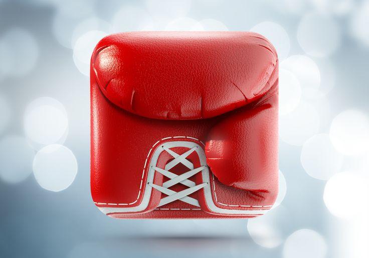 Boxing Glove App icon / Ramotion #ios #icon #design #app