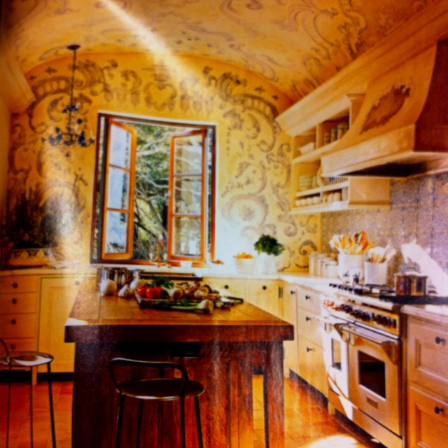 Reinvented French country kitchen