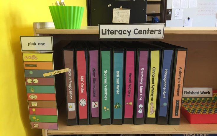 Obsessed with Literacy Centers! Check out how to improve yours & keep your kiddos working hard! The Autism Helper