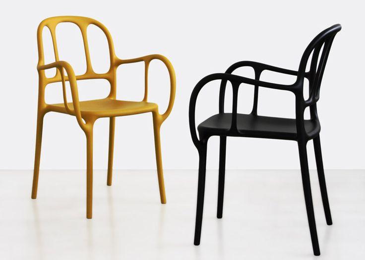Jaime Hayón's debut plastic product is a skeletal chair for Magis.