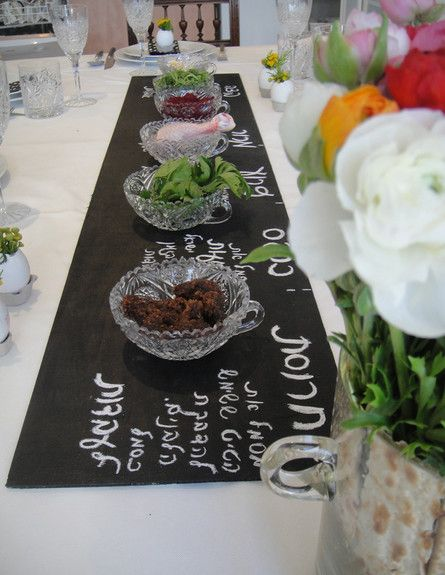 seder plate/ Wonderful centerpiece idea or for a side table