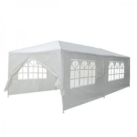 NEW LEAF Outdoor Wedding Party Pavilion Tent Gazebo Canopy With Removable Side Walls By Newleaf 10 X 20 W 6 Sidewalls White For Sale